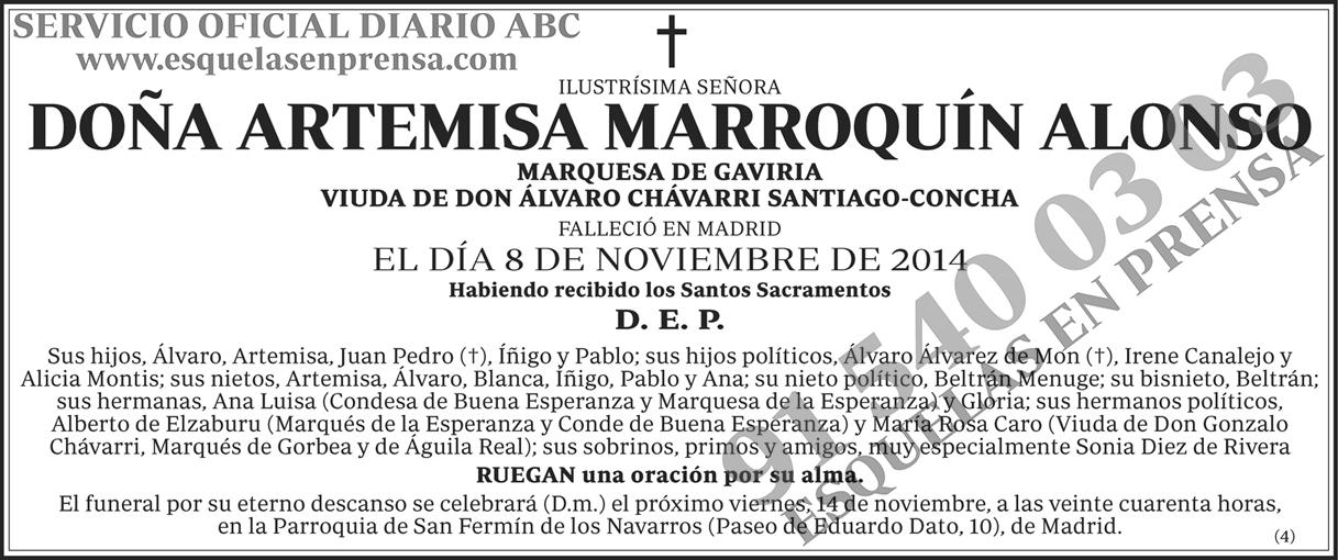 Artemisa Marroquín Alonso
